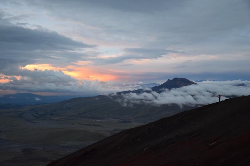 Cotopaxi coucher de soleil