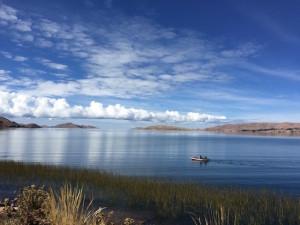 Le lac Titicaca à 3800m d'altitude