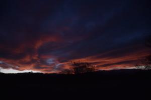 Ciel argentin au crépuscule avant San Juan